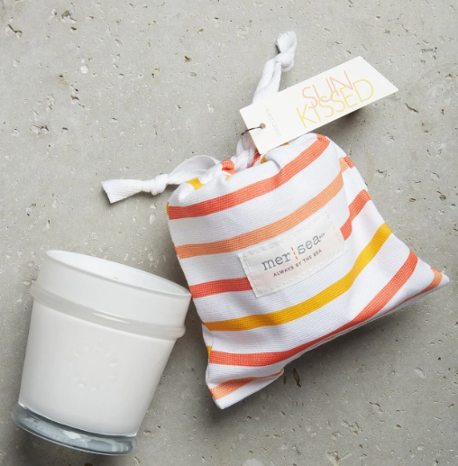 Striped Sandbag Candle 7 oz.-Sun Kissed - Palencia's Market Street Boutique