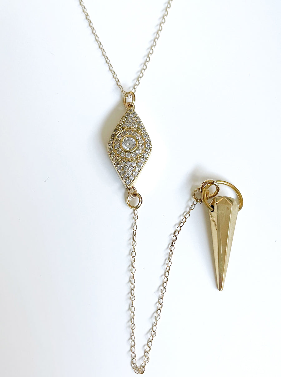 Gold Pendulum Necklace