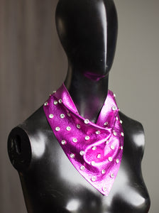 Hot Pink with Large Rhinestones