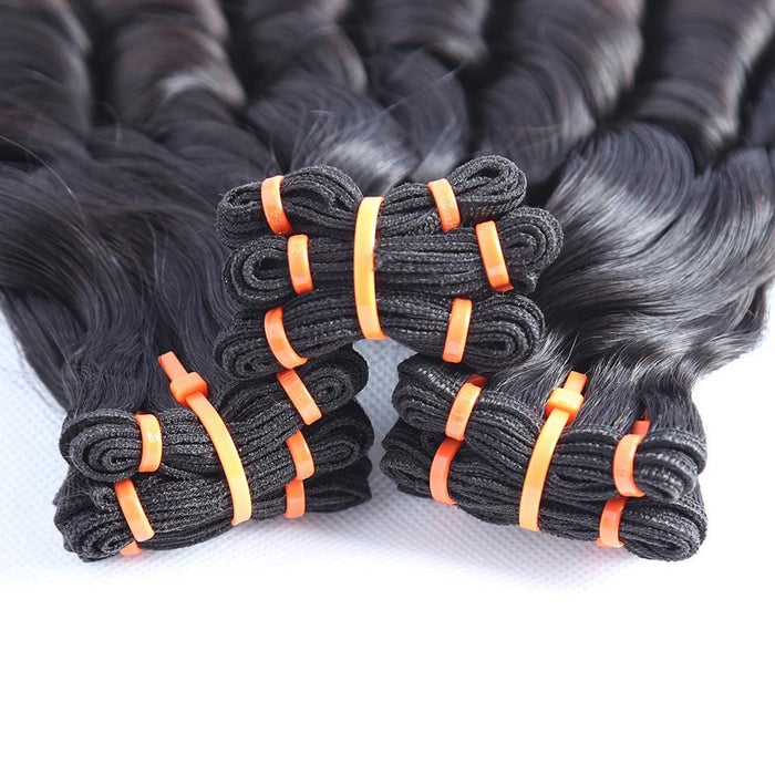 Top Grade Double Drawn 100% Virgin Hair Fumi Spring Curly Hair Weave