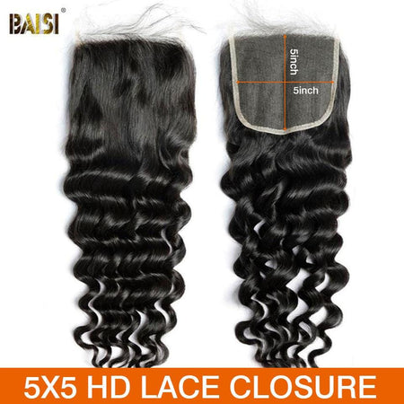 BAISI Hd Lace Closure 5x5 Dentelle Maigre Invisible