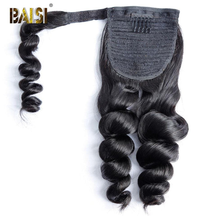 BAISI Queue De Cheval  Loose Wave En 100% Cheveux Naturels