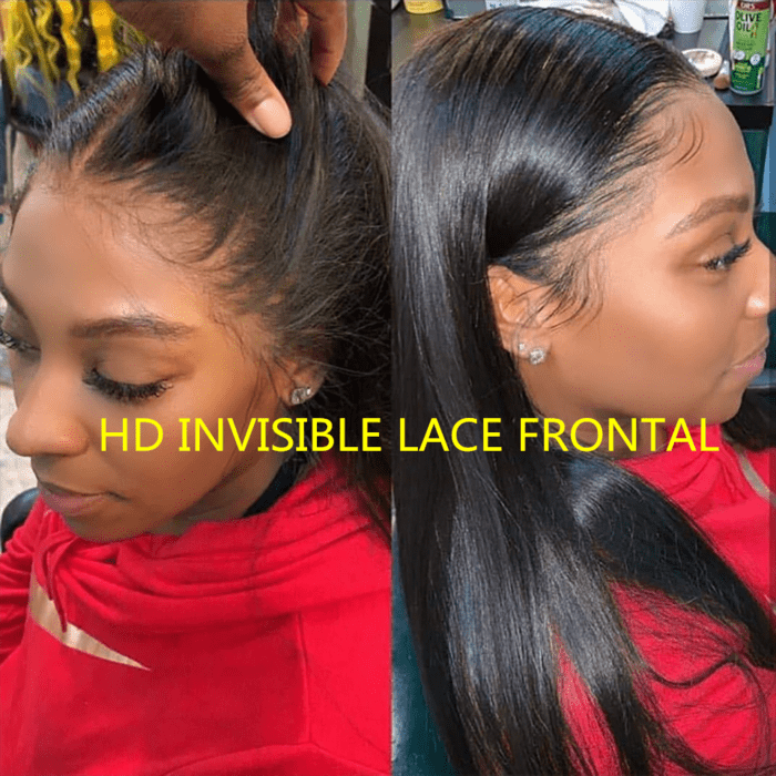 BAISI 13*4 HD Frontal Closure Perruque En Cheveux Humains