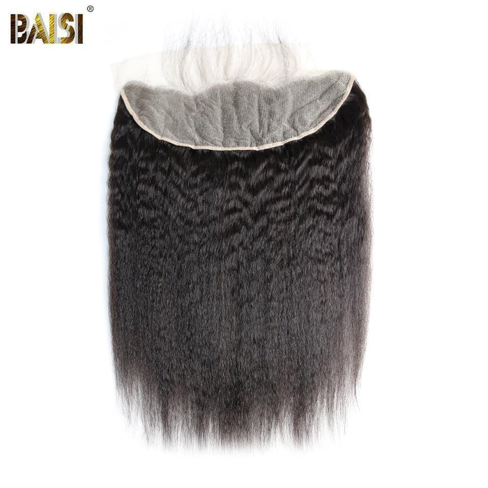 BAISI 10A Lace Frontal En 100% Cheveux Vierges Kinky Straight 13x4