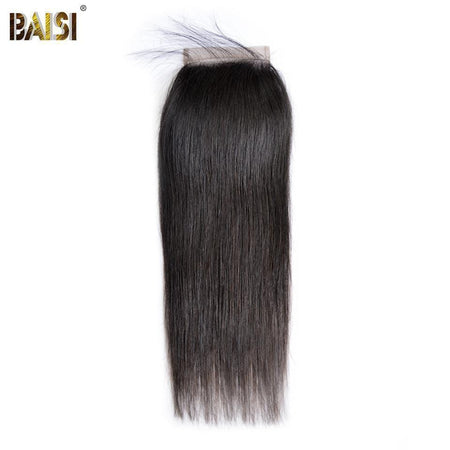 BAISI 8A 100% Virgin Hair Straight Lace Closure 4x4/ 5x5, Silk Based Closure 4x4 - Baisi Hair