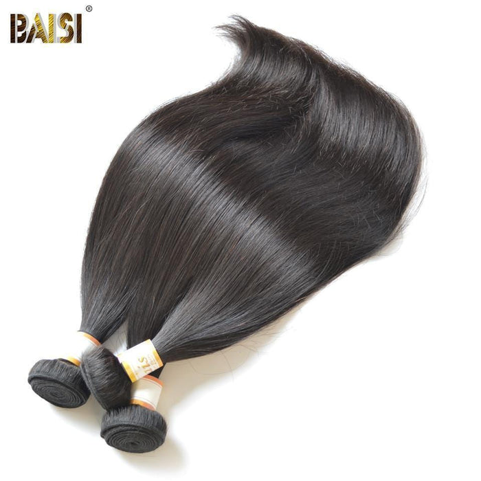 BAISI 7A Hair Weave Brazilian Virgin Hair Straight