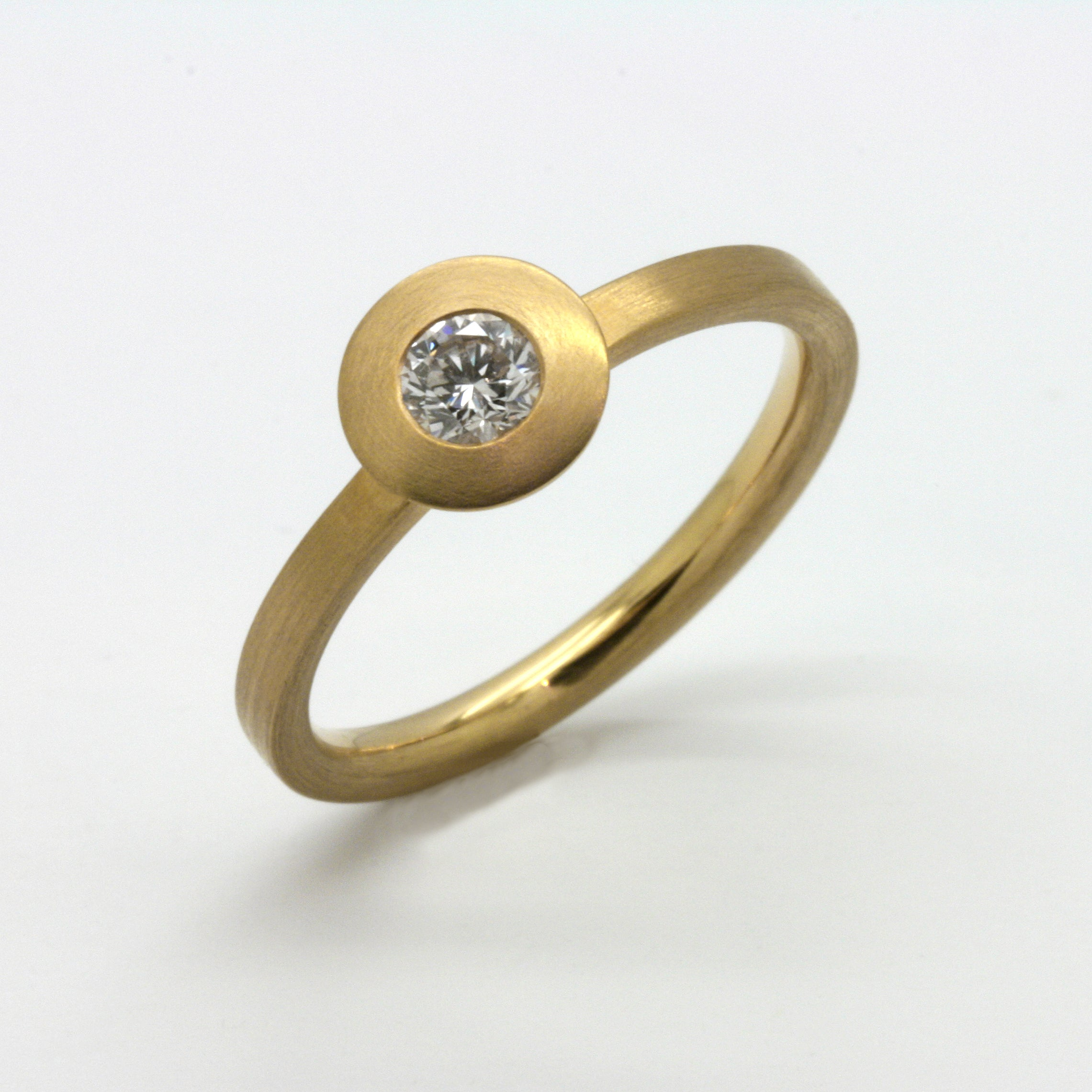 Brilliant Ring, Gelbgold