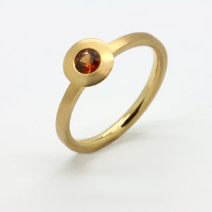 Moon Ring -Mandarin Granat-