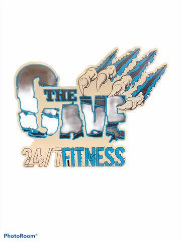 Cave 24/7 Fitness Sticker