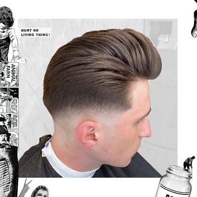 Featured Style: Loose Pomp with Skin Fade