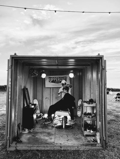 Uppercut Deluxe Pop Up Barbershop at Wavelength's Drive In Cinema