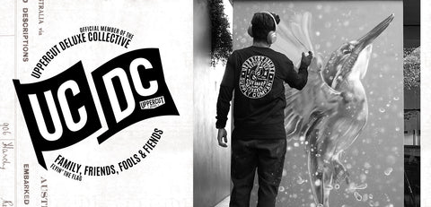 Sid Tapia next to UCDC logo