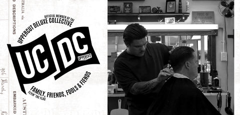 Vinny Richards next to UCDC logo
