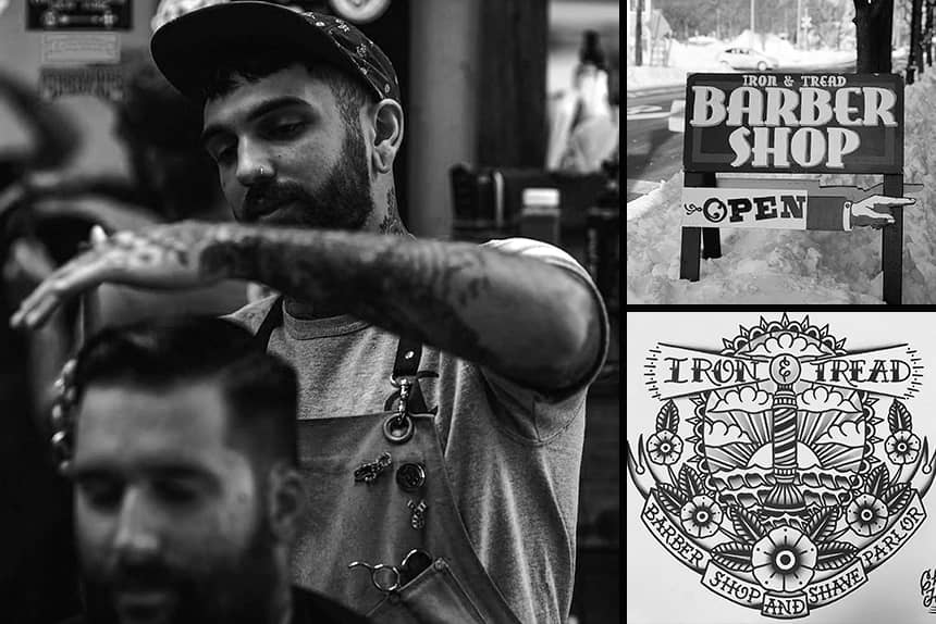 Uppercut Deluxe Barbers of the Month - Iron and Tread Barbershop