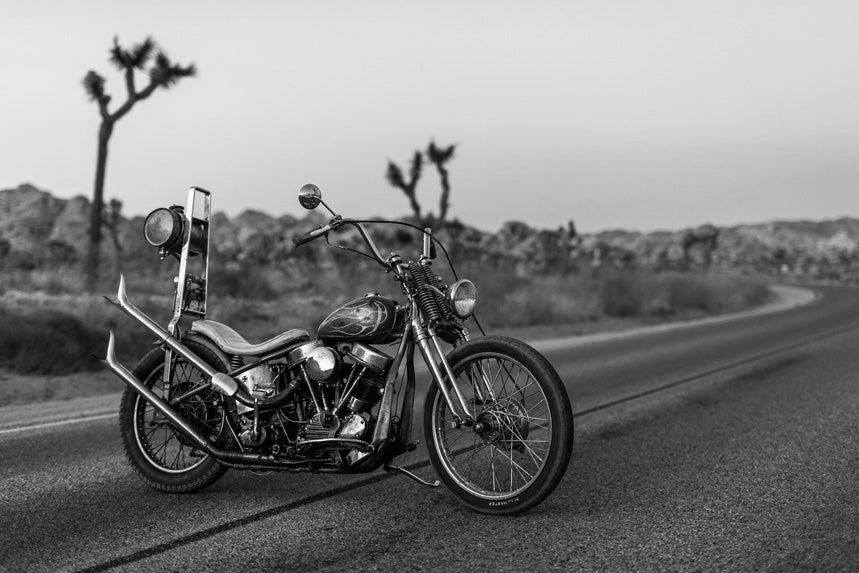 Motorbike parked on the road