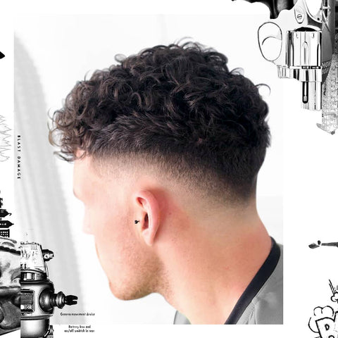 Textured Curls with Skin Fade hairstyle