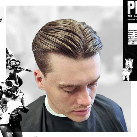 Featured Style Slick 90 S Middle Part Uppercut Deluxe