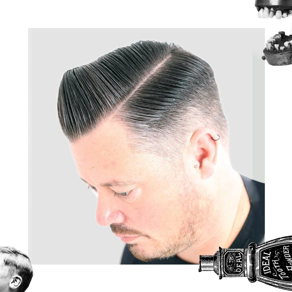 Uppercut Deluxe | Classic Side Part with Fade