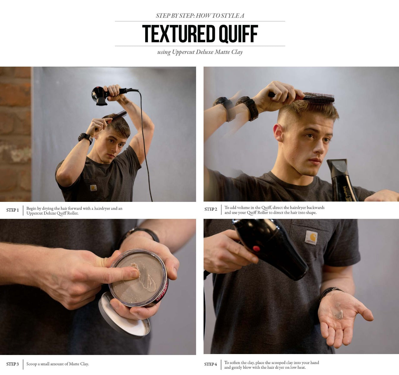 Textured Quiff How To Style Uppercut Deluxe Usa