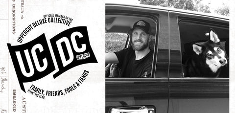 Rob Hammer next to UCDC logo