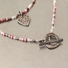 Load image into Gallery viewer, Hill Tribe Silver Hammered Heart Charm Necklace