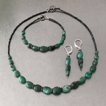 Load image into Gallery viewer, Emerald Dangle Drop Earrings