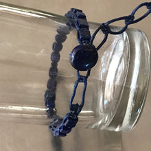 Load image into Gallery viewer, Lapis Waxed Cotton Cord Bracelet