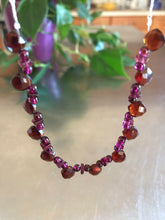 Load image into Gallery viewer, Garnet Sterling Silver Necklace