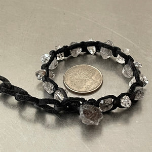 Herkimer Diamonds Deerskin Leather Bracelet