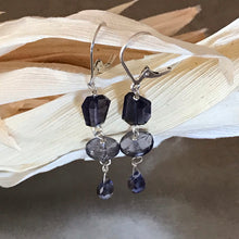 Load image into Gallery viewer, Iolite Dangle Drop Earrings