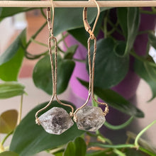 Load image into Gallery viewer, Herkimer Diamond Gold Earrings