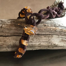 Load image into Gallery viewer, Citrine Deerskin Leather Bracelet