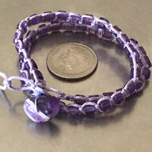 Load image into Gallery viewer, Amethyst Waxed Cotton Cord Bracelet