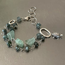 Load image into Gallery viewer, Aquamarine Sterling Silver Bracelet