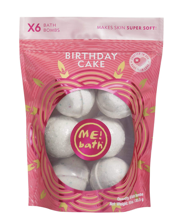 Me Bath BIRTHDAY CAKE BATH BOMB 6 PCS 283.5 G-ME1015