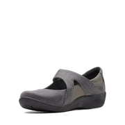 Clarks Sillian Bella Women'S Mary Jane - Grey - 26121460 - E Width (Wide Fit)