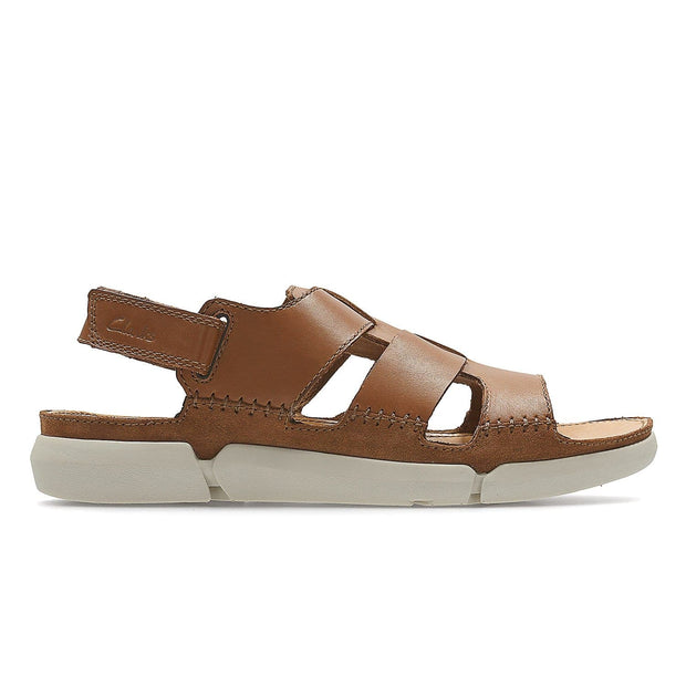 CLARKS TRISAND BAY MEN'S SANDALS - TAN LEATHER - 26124045