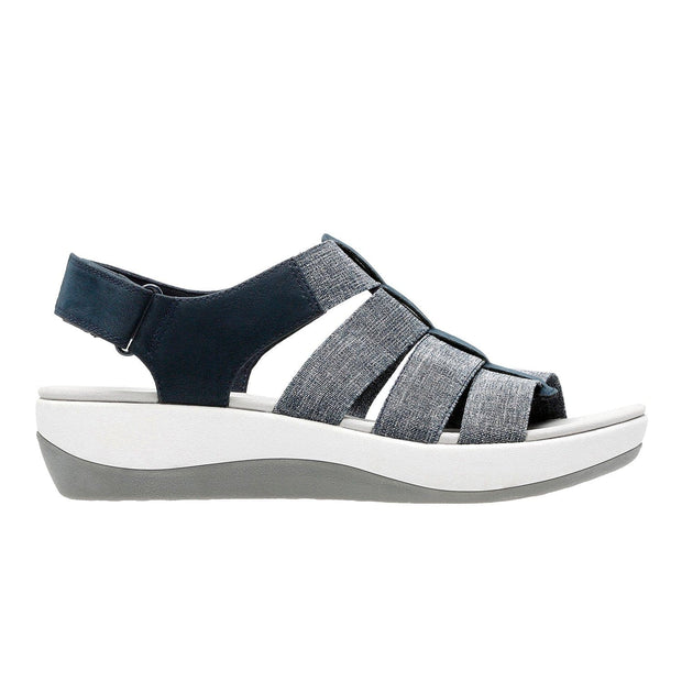 Clarks Arla Shaylie Sandal - Grey and Navy - 26128907