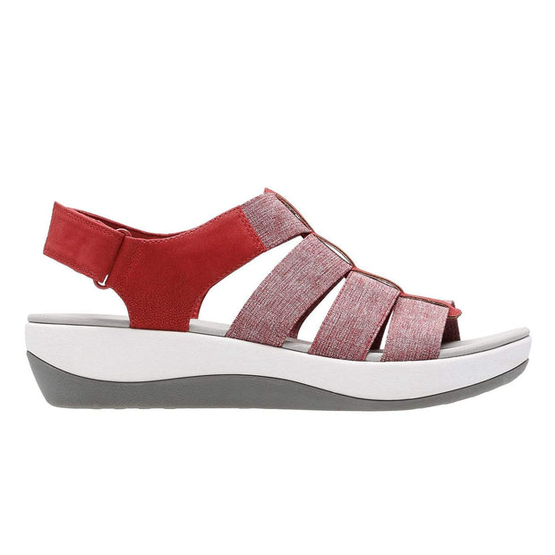 Clarks Arla Shaylie Sandal - Red and White - 26128908
