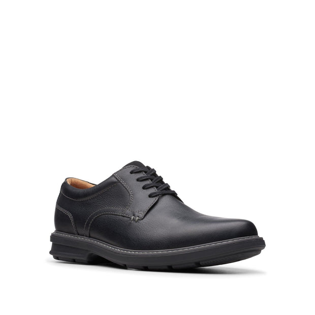 Clarks-Rendell-Plain-Men's-Shoes-Black-Leather-26145346