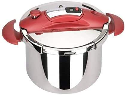 Sitram Speedo Pressure Cooker, 4L, Stainless Steel, Red, 711299