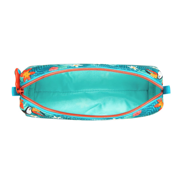 DELSEY SCHOOL 2018 PENCIL CASE TURQUOISE 00339317112 TURQUOISE