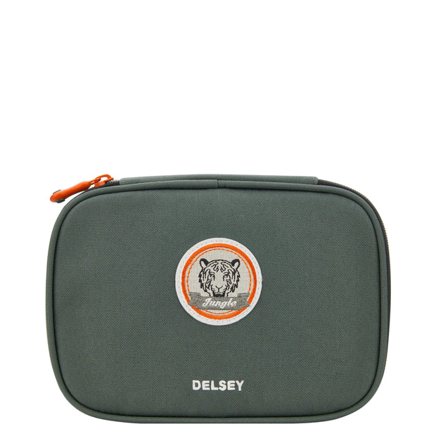 DELSEY SCHOOL 2018 LARGE PENCIL BOX KHAKI 00339317503 KHAKI