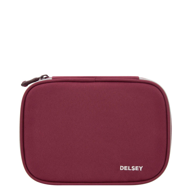 DELSEY SCHOOL 2018 LARGE PENCIL BOX RASPBERRY 00339317524 RASPBERRY