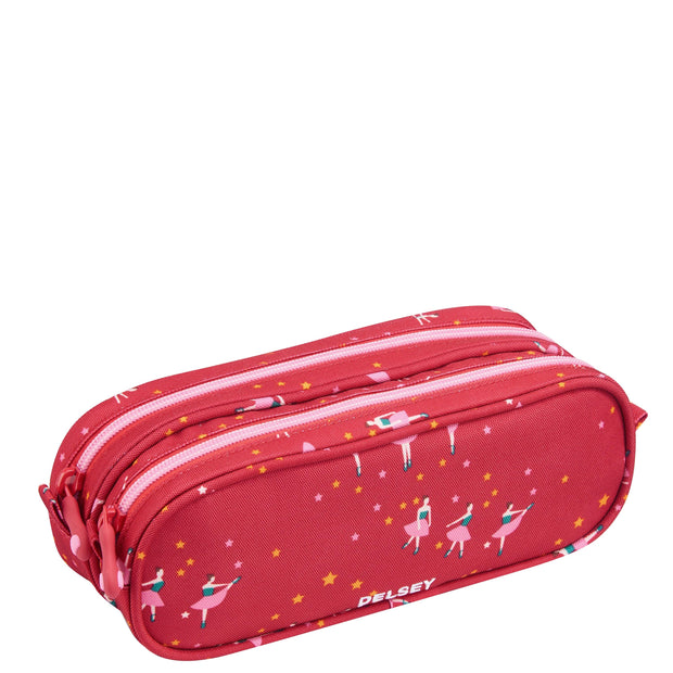 DELSEY SCHOOL 2019 2-CPT PENCIL CASE BALLERINA PINK 00339317319 PINK