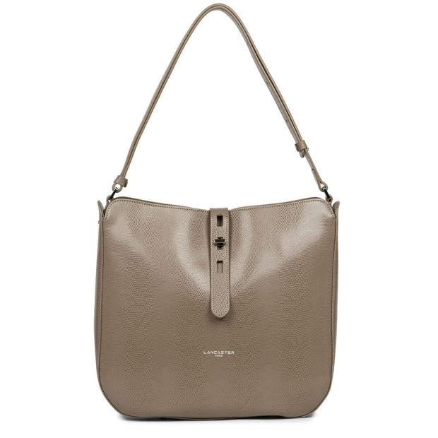 LANCASTER LUCERTOLA HOBO BAG TAUPE - 433-07-TAUPE