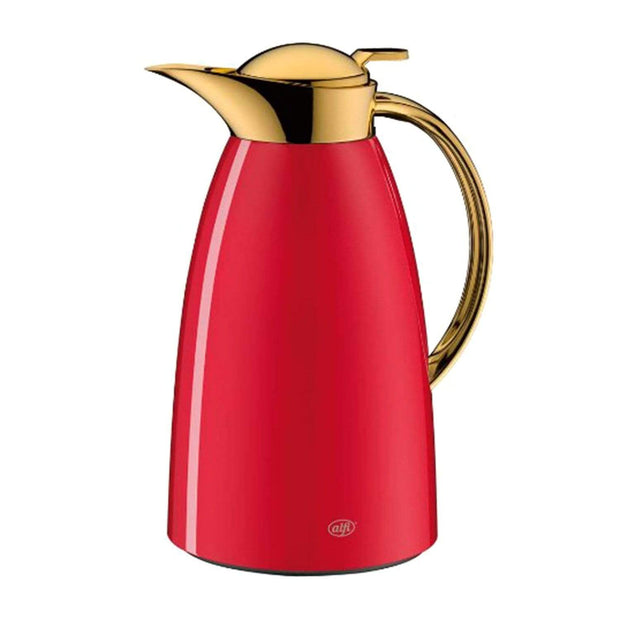 4 Homes Alfi Vacuum Gusto Arabic Design Gold Flask - Red, 1L - AI-3529-202-100