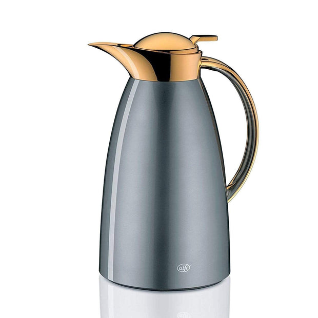 4 Homes Alfi Vacuum Gusto Arabic Design Gold Flask - Space Grey, 1L - AI-3529-218-100 - Jashanmal Home