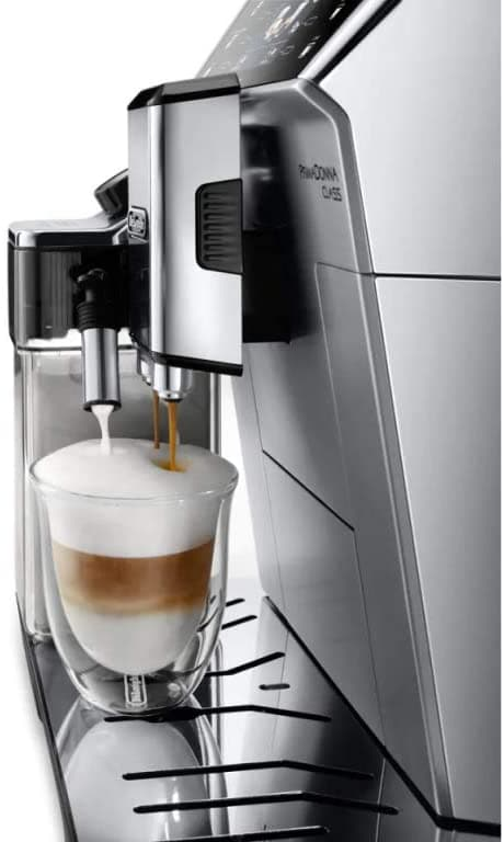 De'Longhi PrimaDonna Class Fully Automatic Coffee Machine, Silver - ECAM550.75.MS (Made In ITALY)