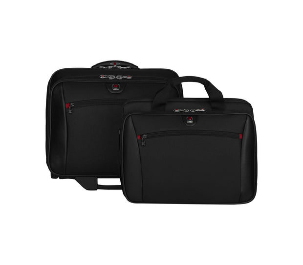 WENGER POTOMAC DOUBLE-GUSSET WHEELED BRIEFCASE BLACK - 600661